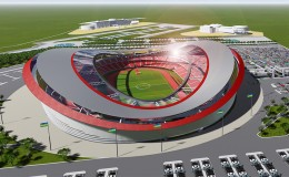 Kigali Olimpic Stadium 3D Animation Work